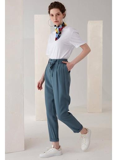 Vivencia Kemer Detaylı Duble Paça Bej Renk Pantolon İndigo